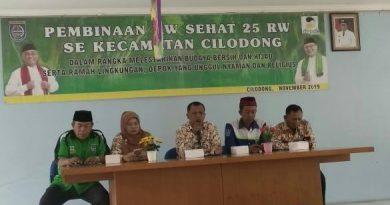Camat Cilodong Drs.Supomo.M.Si  Support Pembinaan RW Sehat