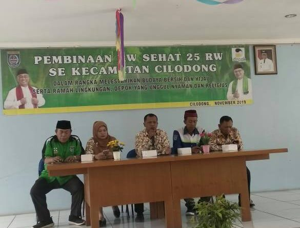 Camat Cilodong Drs.Supomo.M.Si  Support Pembinaan RW Sehat