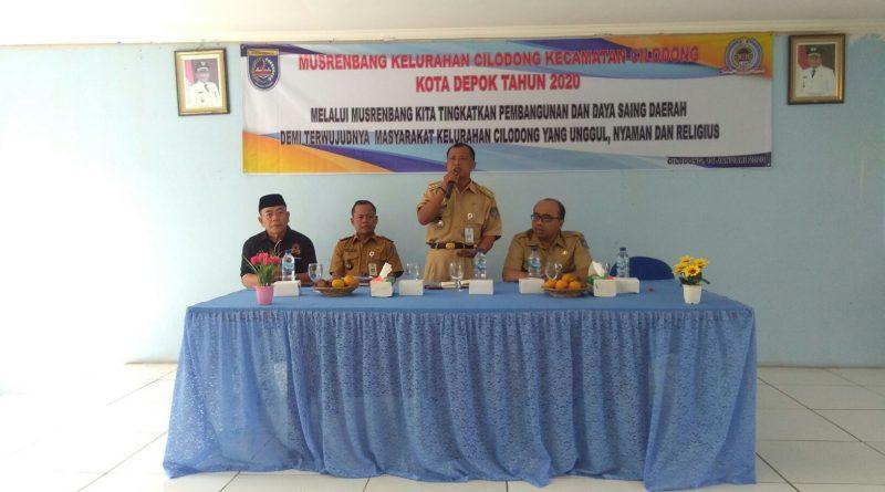 Melalui Musrenbang Kelurahan Cilodong  Tingkatkan Pembangunan dan Daya Saing Daerah